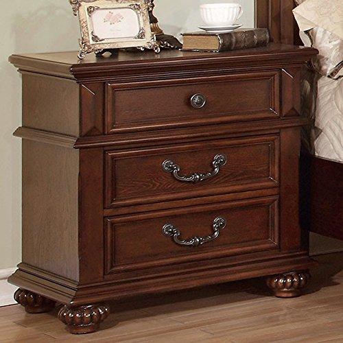 Furniture of America CM7811N Landaluce Antique Dark Oak Nigh