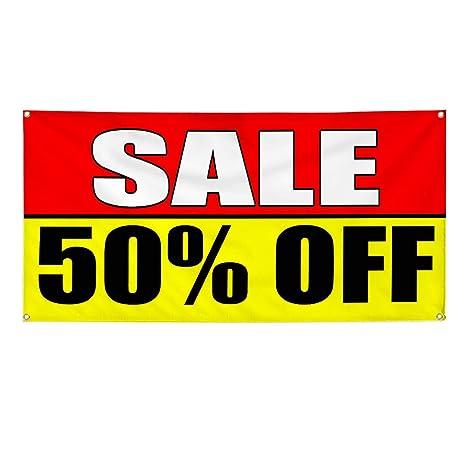 Amazon.com: Cartel de vinilo con texto en inglés «Sale 50 ...
