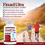 Flexacil Ultra - Maximum Strength Joint Pain Relief Supplement (3 Bottles) | Glucosamine, Chondroitin, Hyaluronic Acid & MSM | Anti-Inflammatory for Healthy Hand, Back and Knee Function | 60 Caps Each