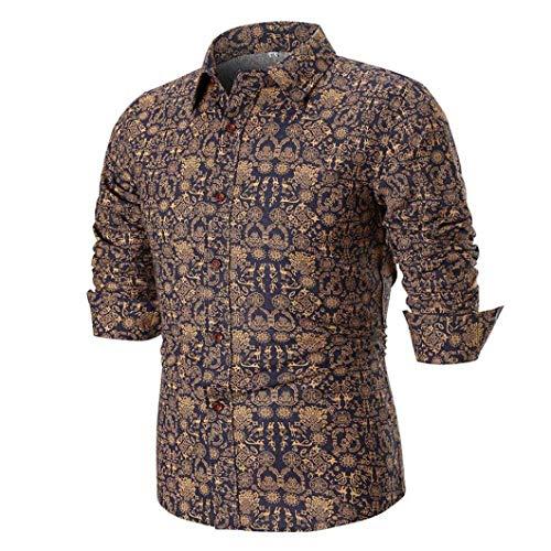 ♚Blusa de Verano para Hombres, Camisa Estampada de Manga Larga Delgada Casual de la Personalidad Absolute: Amazon.es: Ropa y accesorios