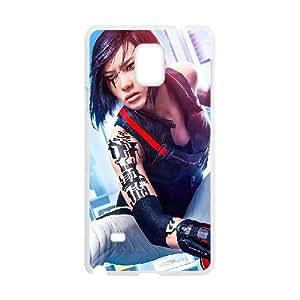 Samsung Galaxy Note 4 Cell Phone Case White Mirror's Edge Catalyst Custom DSAMKAVDH3234