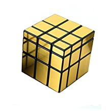 3x3x3 Eco-friendly Plastics Speed Mirror Cube Stickerless Speed Magic Cube (Golden)