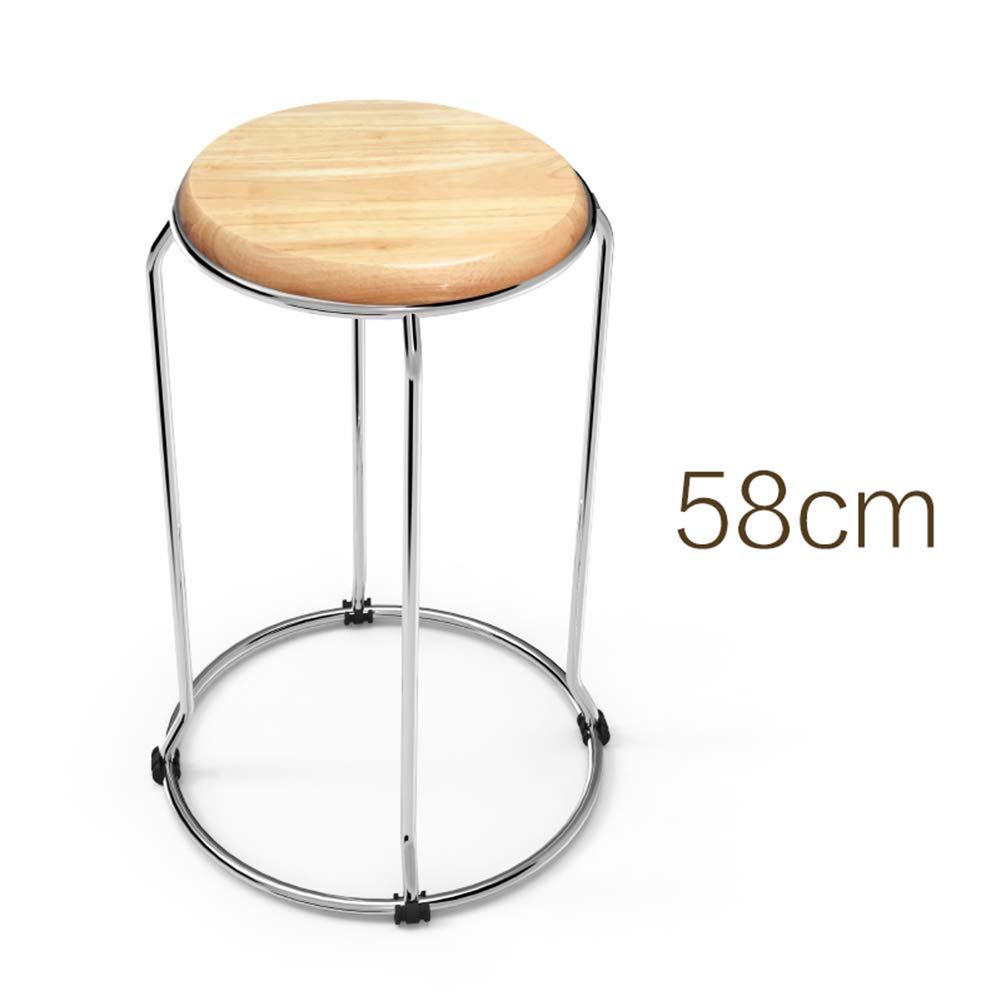 58 Solid Wood Stool Dining Table Stool Bench Small Stool Folding Stool Fashion Simple Modern Home Dining Chair ZHANGAIZHEN (Size   28)