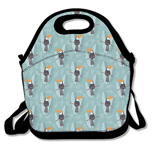 Toucans Jungle Insulated Lunch Bag Picnic Lunch Tote For Work, Picnic, Travelling