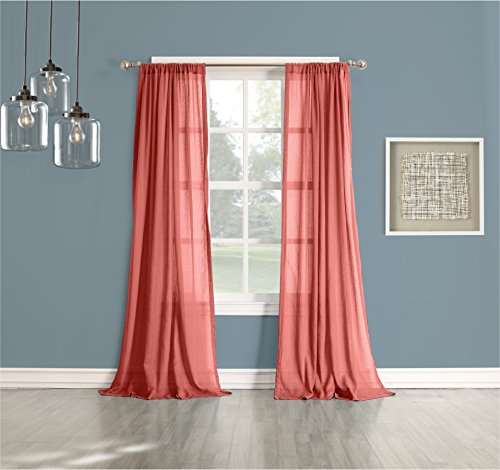 Coral Colored Curtains Amazoncom - Coral colored curtain panels