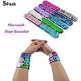 Slap Bracelets - 2 Color Decorative Charm...