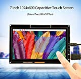 CQRobot 7 inch Monitor, HDMI Capacitive Touch Screen 1024600 High Solution, TFT LCD Display For Raspberry Pi, BB Black, Win10, Mac Book Pro.