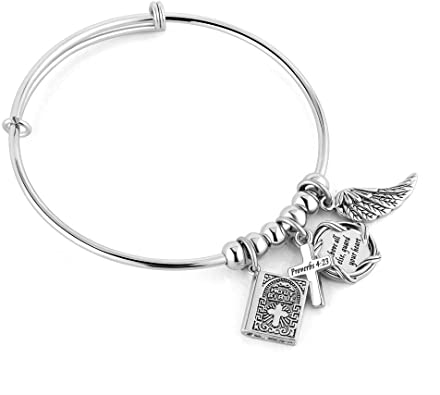 LovelyCharms Stainless Steel Cuff Bangle Bracelet for Women Girls