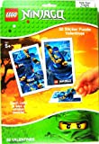 Lego Ninjago Masters of Spinjitzu 32 Sticker Puzzle Valentines