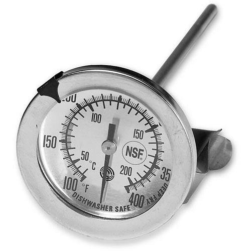 Generic 621121 Thermometer Stainless Steel Candy/Fryer Temp 100-400 5'' Probe 2-1/4'' Dial by Generic