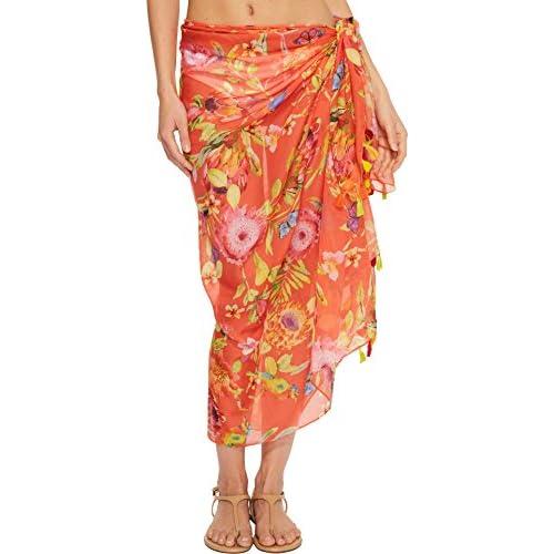 Discount Echo Design Women's Melba Floral Tassel Modal Pareo free shipping