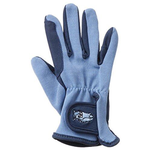 Tough-1 Childs Pony Gloves 10-12 NVY/SkyBlue
