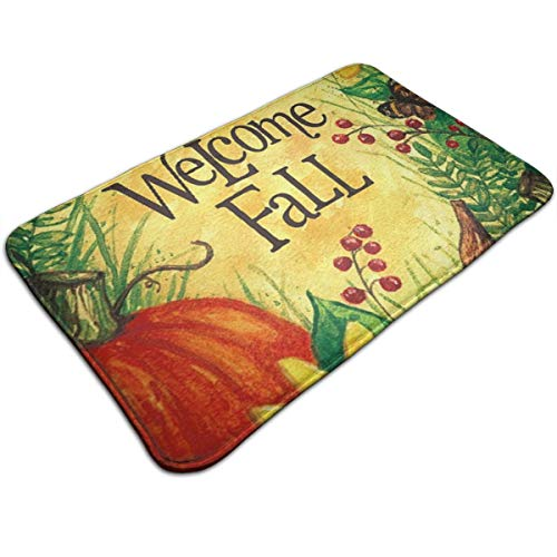 Henua Welcome to Autumn Flower Sunflower Entrance Door Mat Welcome Indoor Bathroom Home Decorative Floor Mat/Cover Floor Rug Indoor/Outdoor Area Rugs