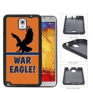 War Eagle School Spirit Slogan Chant Samsung Galaxy Note III 3 N9000 Rubber Silicone TPU Cell Phone Case