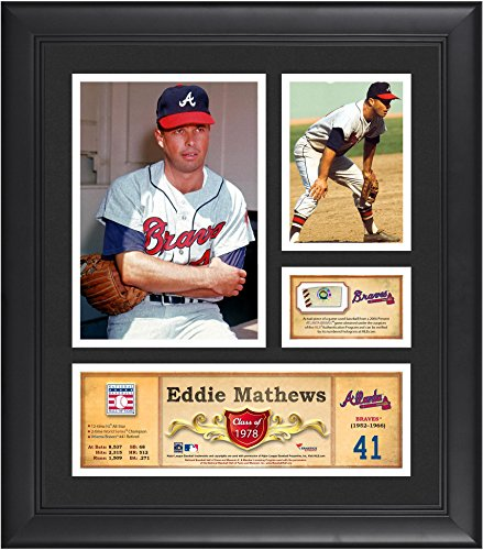 Eddie Mathews Atlanta Braves Framed 15