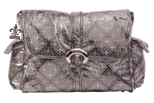 Kalencom Laminated Buckle Bag, New Orleans Black