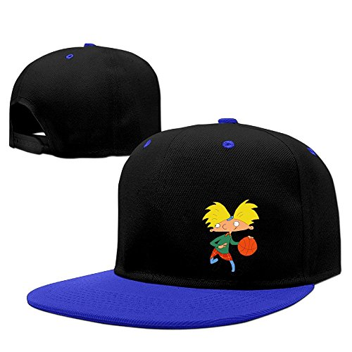 hey-arnold-unisex-100-cotton-royalblue-adjustable-snapback-trucker-hat-one-size