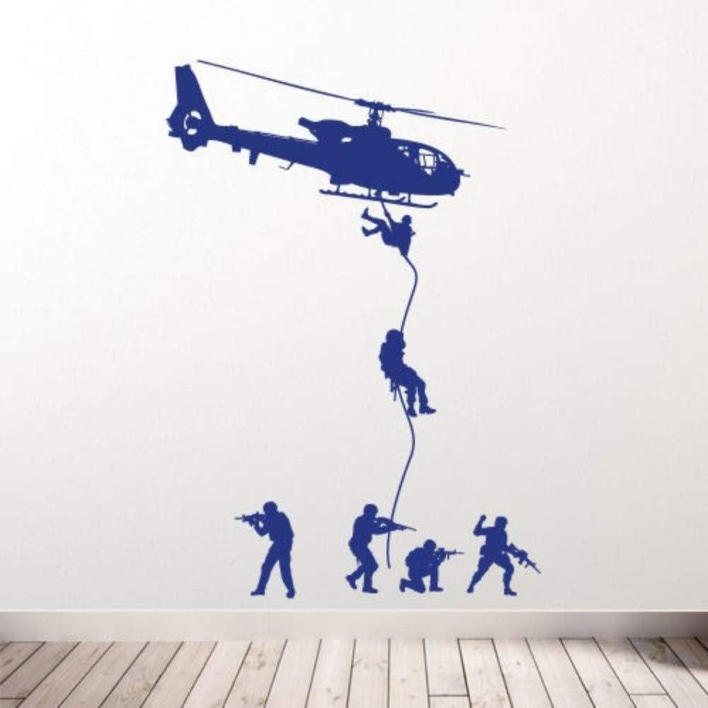 Helicóptero Tatuajes de pared Soldados Militares Hombres Swat Drop ...