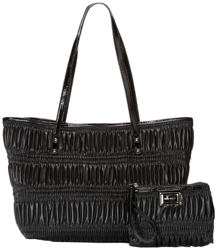 Nine West Showstopper Medium Shopper 60249695 Shoulder Bag,Black,One Size, Bags Central