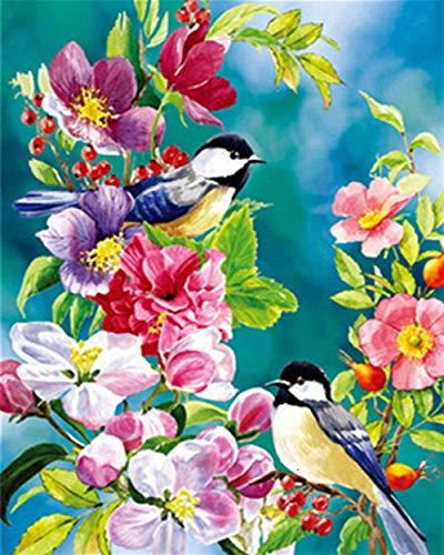 5D Diamond Painting Kits DIY Creative Handmade Bird and Flower Art Art Crafts Round Bead Drill Rhinestone Crystal…