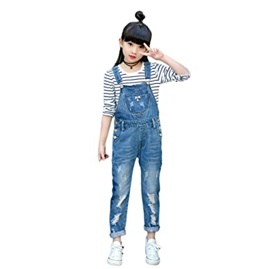 2d87b4843 Amazon.com  Digirlsor Kids Blue Bib Pants Little Big Girls ...