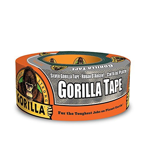 Gorilla 6071202 Duct Tape, 1.88 in. x 12 Yd, Silver, 1 - Pack