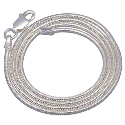 - Italian 2mm Sterling Silver 18