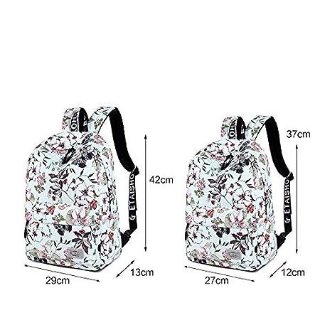Amazon.com: Women Backpacks for Teenage Girls Floral Printed School Bags Travel Leisure Laptop Backpack Female Waterproof Mochilas: Kitchen & Dining