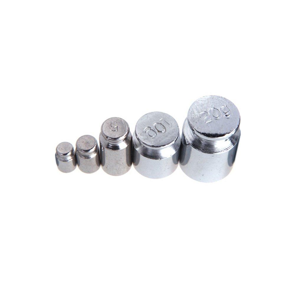 KKmoon Poids 1g 2g 5g 10g 20g chromage pour calibrer gramme de poids de l'é chelle dé finie pour l'é quilibre de balance numé rique