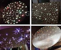 NEW 16W RGBW CREE Twinkle LED Fiber Optic Star Ceiling Lights Kit, Mixed ,300Strands, 3m(0.75mm200pcs+1.0mm70pcs+1.5mm30pcs)+Crystal
