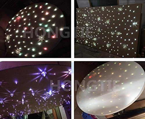 NEW 16W RGBW CREE Twinkle LED Fiber Optic Star Ceiling Lights Kit, Mixed,300Strands, 3m(0.75mm200pcs+1.0mm70pcs+1.5mm30pcs)+Crystal