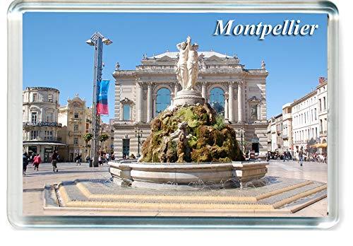 GIFTSCITY H212 Montpellier Calamita da Frigo France Travel Fridge Magnet