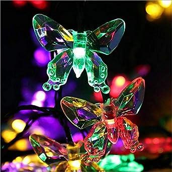 Linterna solar Estilo de mariposa creativo Fiesta en el jardín Fiesta en el jardín Luz al aire libre Paisaje Luz Arreglo floral a prueba de agua: Amazon.es: Iluminación