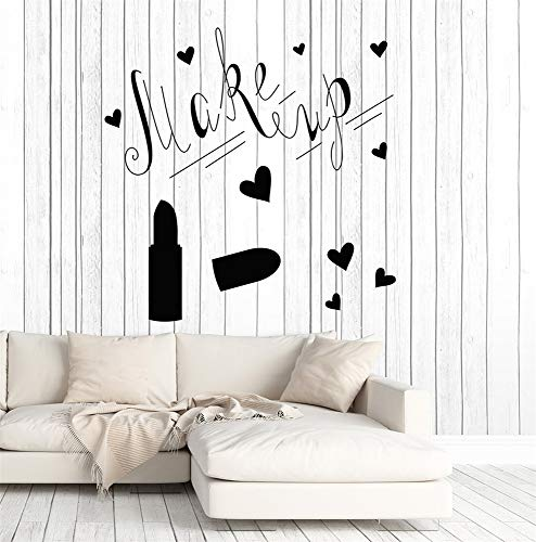 Jiesa Decals Stickers Wall Words Sayings Removable Lettering Make Up Lipstick Girs Woman Bedroom Decoration Beauty Salon Poster Home Ornament