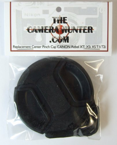 Center Pinch Lens Cap for CANON EOS Rebel XTi XSi XS T1i T2i Lens Replacement
