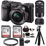 Sony Alpha a6000 Mirrorless Camera w/ Sigma 30mm f/2.8 & Sony 55-210mm Lenses & 64GB Bundle