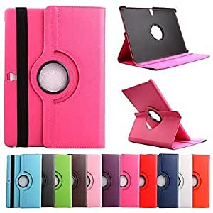 LIMME ships in 48 hours 360¡ã Degree Rotating PU Leather Case with Stand for Samsung Galaxy Tab S 10.5 T800 (Assorted Colors) , Red