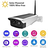 Solar Camera Wireless Outdoor Security System 1080P HD Surveillance Camera with 7650mAh Rechargeable Battery, Night Vision, 2-Way Audio for Front Door Pathway Yard Patio Garden Porch Driveway Garage