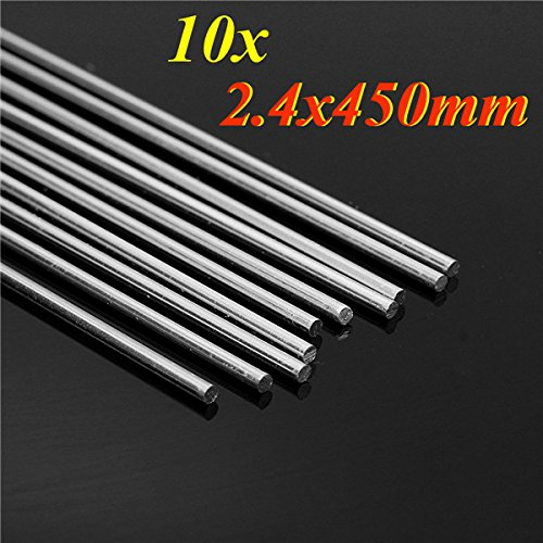 50, 2.4mm 4043 Aluminium TIG Welding Rods 33cm Wire Filler 1.6mm 2.4mm 3.2mm 5/% Silicone by BMF DIRECT/®