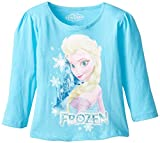 Extreme Concepts Little Girls' Disney Elsa Puff Long Sleeve Top, Frozen Blue, 2T