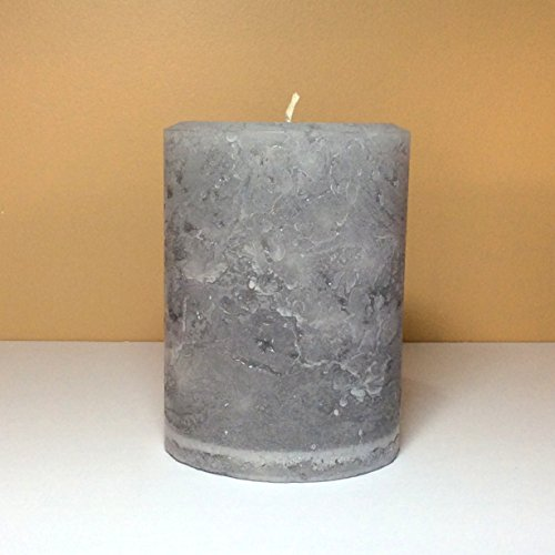Gray Large Rustic Candle - 4