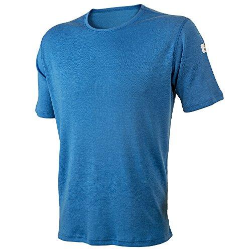 - Janus Summerwool 100% Merino Wool Men's T-Shirt Machine Washable. Made in Norway (Blue, Medium)