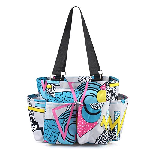 Zodaca Geom Colorway 7 Pocket Organizer Caddie Bag ()