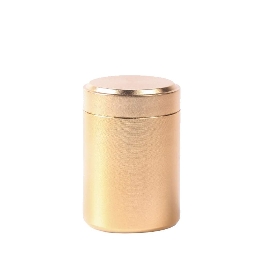 Tea Tins Canister Portable Tea Coffee Sugar Storage Loose Leaf Tea Tin Containers with Airtight Lids (yellow)