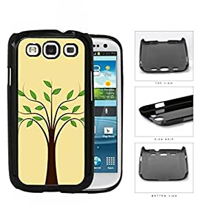 Plain Tree With Green Leaves Hard Plastic Snap On Cell Phone Case Samsung Galaxy S3 SIII I9300
