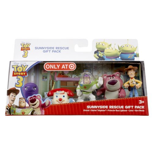 Disney Toy Story 3 Exclusive 5 Piece PVC Mini Figurine Collector Set Sunnyside Rescue Stretch, Chatter Telephone, Protector Buzz Lightyear, Lotso & Hero (Chatter Telephone)