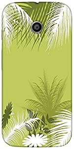 Snoogg Palm Tree With Flower Designer Protective Back Case Cover For Moto-E 2...