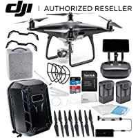 DJI Phantom 4 PRO+ PLUS Obsidian Edition Drone Quadcopter Includes Display (Black) Essentials Hard Shell Backpack Bundle