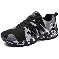 RUOK Men's Breathable Knit Athletic Shoes Lightweight Running Sneakers Gym Tennis Skateboard Shoes