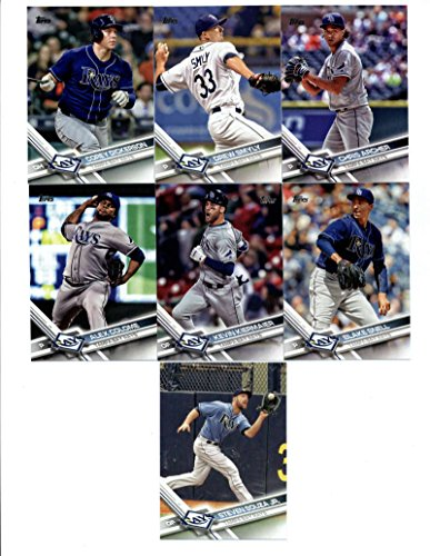 2017 Topps Tampa Bay Rays Complete Master Team Set of 30 Cards (Series 1, 2, Update) with Steven Souza Jr.(#10), Kevin Kiermaier(#154), Alex Colome(#156), Corey Dickerson(#165), Blake Snell(#190), Logan Morrison(#226), Tampa Bay Rays(#266), Chris Archer(#326), Drew Smyly(#334), Brad Miller(#356), Brad Boxberger(#358), Evan Longoria(#390), Nick Franklin(#471), Jake Odorizzi(#488), Mallex Smith(#512), Matt Duffy(#551), Alex Cobb(#667), Luke Maile(#672), Chris Archer(#US17), plus more